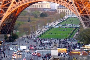 No lines to go up in the Eiffel Tower November 22; view from Musee de l'Homme Chaillot Trocadéro