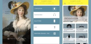 Application presentation for Vigée Le Brun exhibit, Grand Palais, Paris