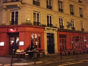 Café de l'Industrie Bastille - rue Sedaine - quiet a week later; was full outside the night before.