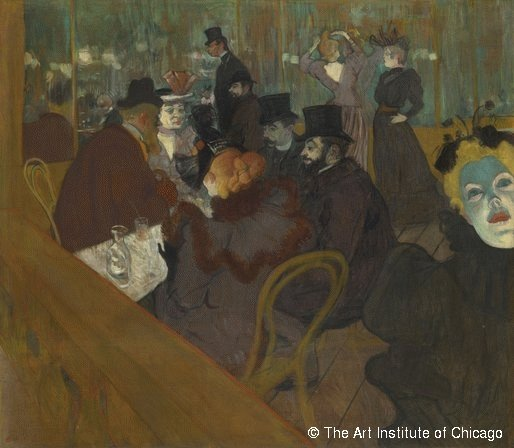 Henri de Toulouse-Lautrec, Au Moulin-Rouge (détail), 1892-1895, Art Institute of Chicago ©DeAgostini/Leemage
