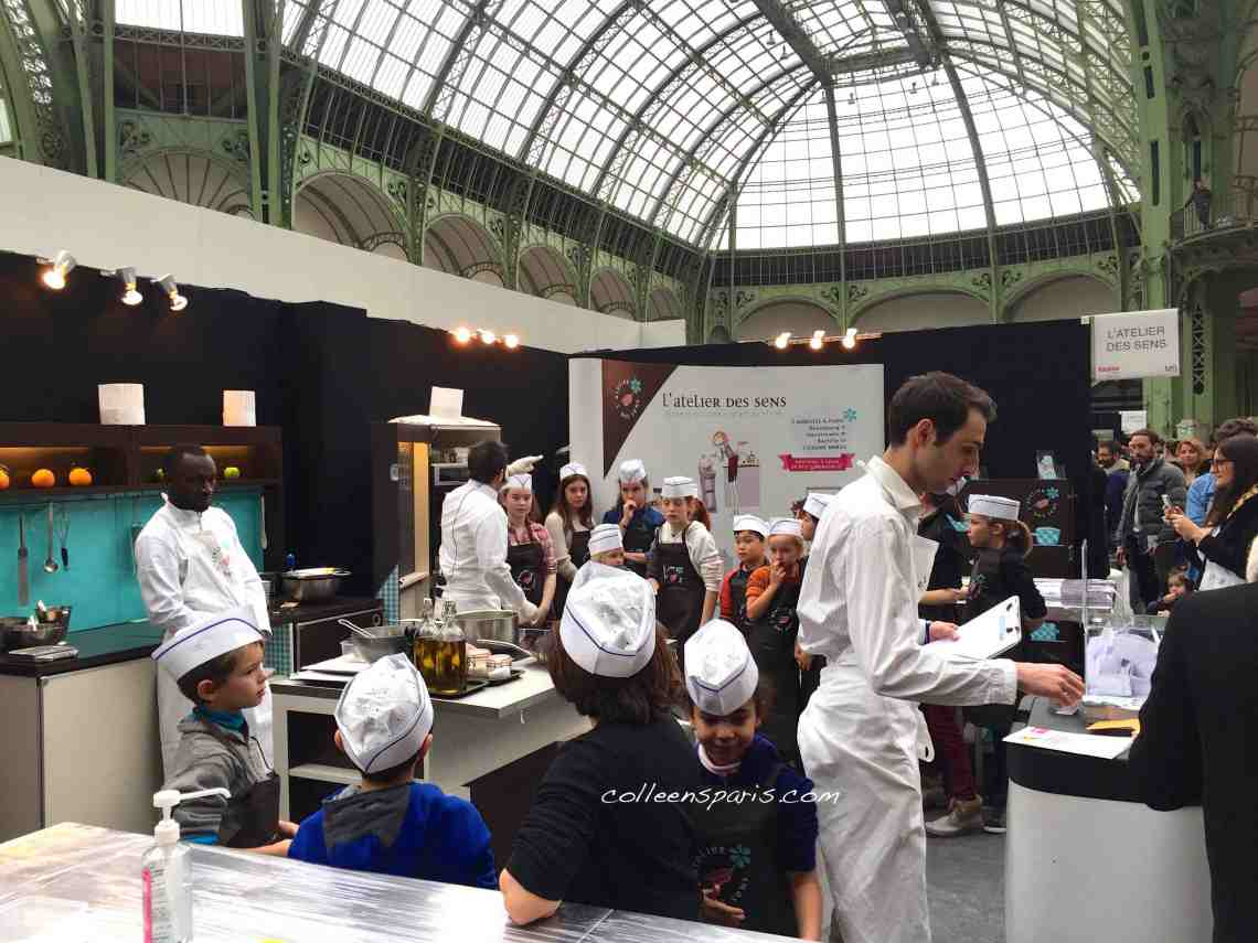 Even the kids get into the cooking class action http://paris.tastefestivals.com/animations/ Taste of Paris Grand Palais