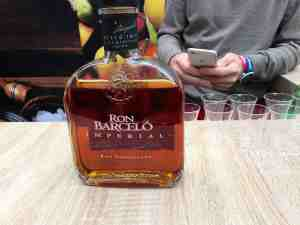 Rum tasting at the Dominican Republic stand Taste of Paris 2016 Grand Palais