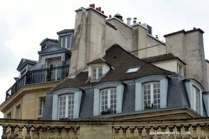 Looking to the rooftops from the Hôtel de Soubise