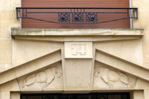 Detail on Building 14 square Alboni (Charles Venner, 1929), Passy