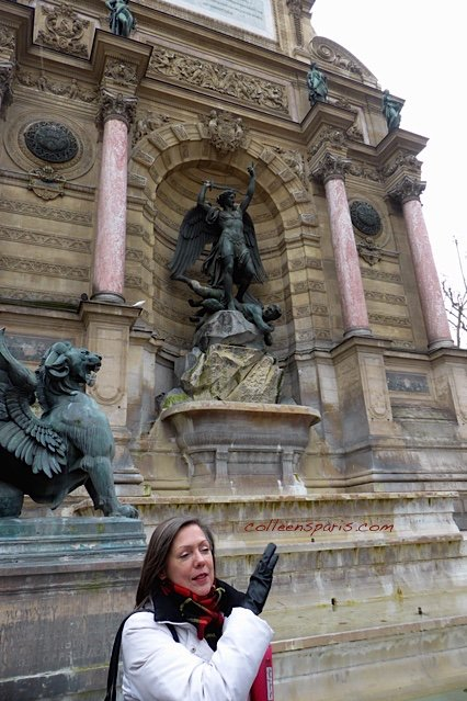 Rosemary beginning the Angels of Paris #1 tour, along the edges of the sixth, first and fourth arrondisements