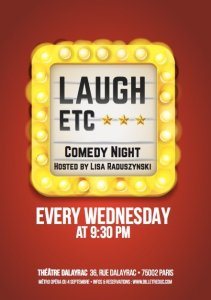 Poster for Laugh Etc. Comedy Night Hosted by Lisa Raduszynkski