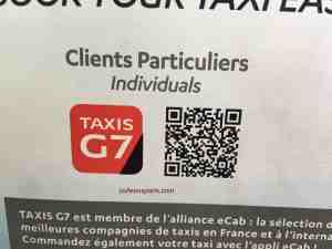 QR Code for Taxis G7 for individuals not registered