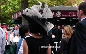 Hat at Race Longchamp horse race Qatar Prix Arc de Triomphe