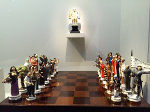Good v. Evil-Chess pieces, 2003, Maurizio Cattelan, Carambolages RMN Grand Palais, Paris