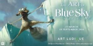Poster for Art of Blue Sky Studios, Art ludique museum, Paris
