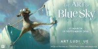 Poster for Art of Blue Sky Studios, Art ludique museum, Paris