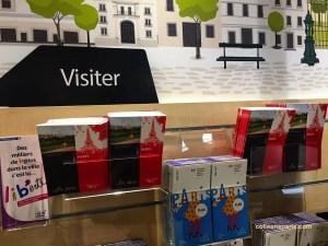 Free guide books from Paris Tourist Office at Paris Rendez-Vous (Hôtel de Ville, rue de Rivoli entrance)
