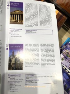 Guided visits to Paris Churches, description in French and English