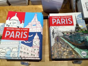 Connect the dots and coloring books, activity books for kids and adults at Paris Rendez-vous
