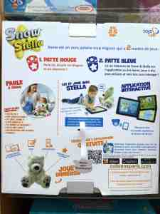 Photo of box for Stella a polar bear that answers questions, reads and is a playmate with plans for future intelligence! Listen to Stella's jokes and songs....