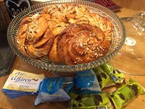 Kanalbullar (cinnamon rolls) home made by Agneta