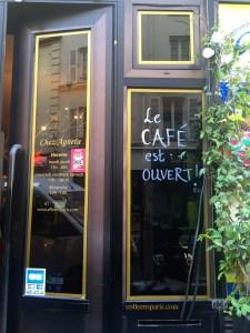 Store front and café, Swedish store, Affären, Paris