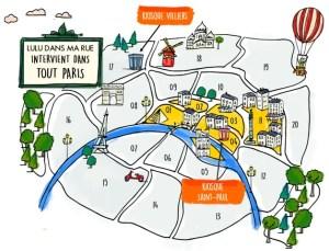 map image of Lulu kiosks Saint-Paul, Villiers