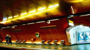 Arts & Metiers metro station for transportation post