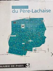 Map of Père-Lachaise