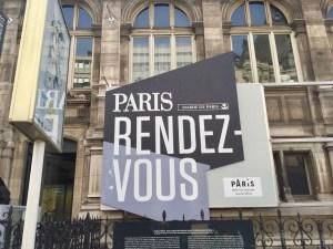 Sign for Paris Rendez-Vous Mairie de Paris City Hall