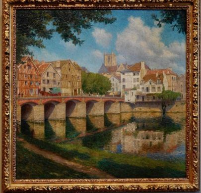 Fernand PINAL (1881-1958) Le Pont du Marché à Meaux, 1913, Musée Bossuet, Meaux