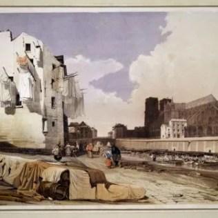 Notre-Dame vue du quai Saint-Bernard, Thomas Shotter Boys,1839