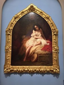 Painting of La Esmeralda, Charles Steuben, 1839