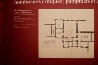 Layout of Mme de Maintenon's apartment at Versailles