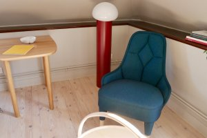 Lightweight Gärnäs and Färg & Blanche designed chair with bendable back