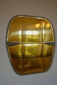 """Reflective garden view from apartment """"Murmure de couture"""""""
