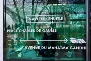 End points for navette/shuttle of Fondation Louis Vuitton