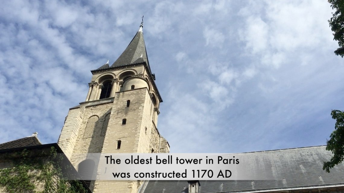 Image of the oldest Gothic bell tower in Paris