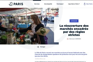 home page for markets in Paris