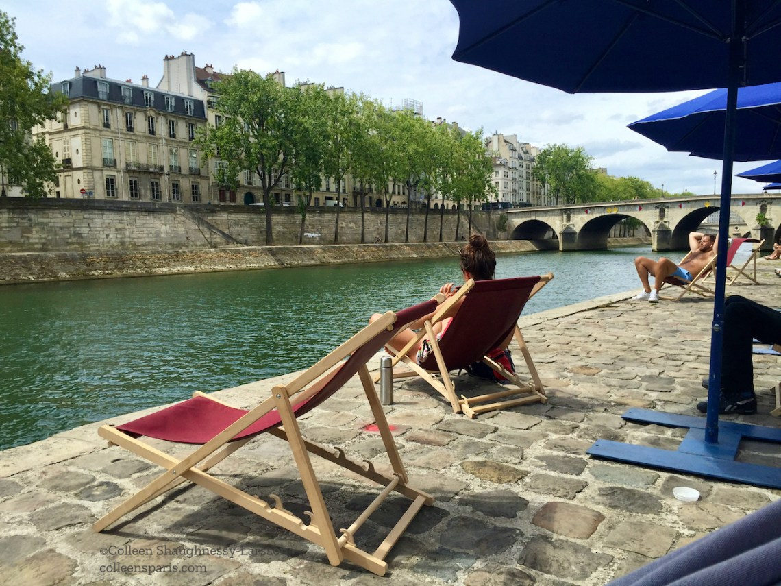 Mid-week at Paris Plages - easier to find a place to sit an parasol