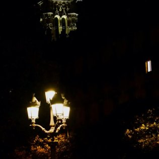 Image of Saint Jacques, lights of Hotel de Ville and someone's apartment