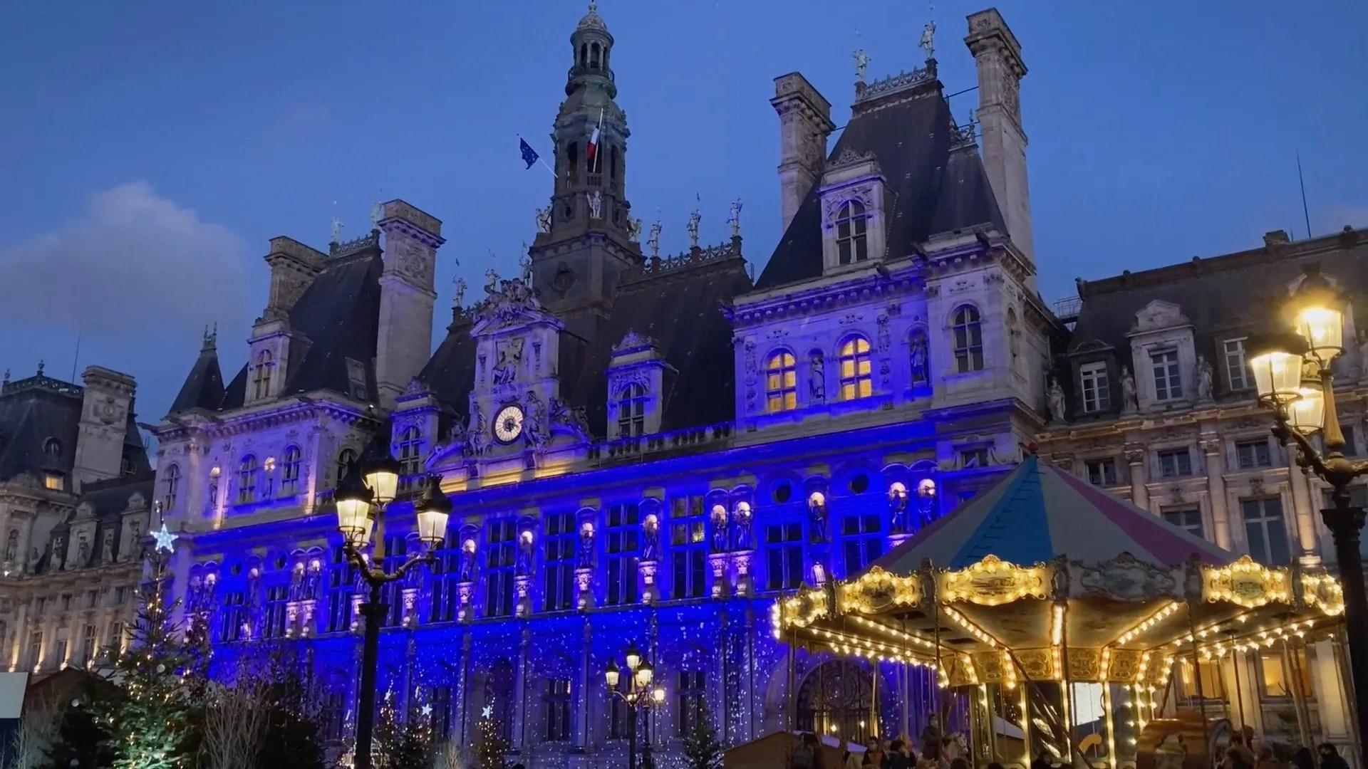 Blue Velvet Christmas in Paris