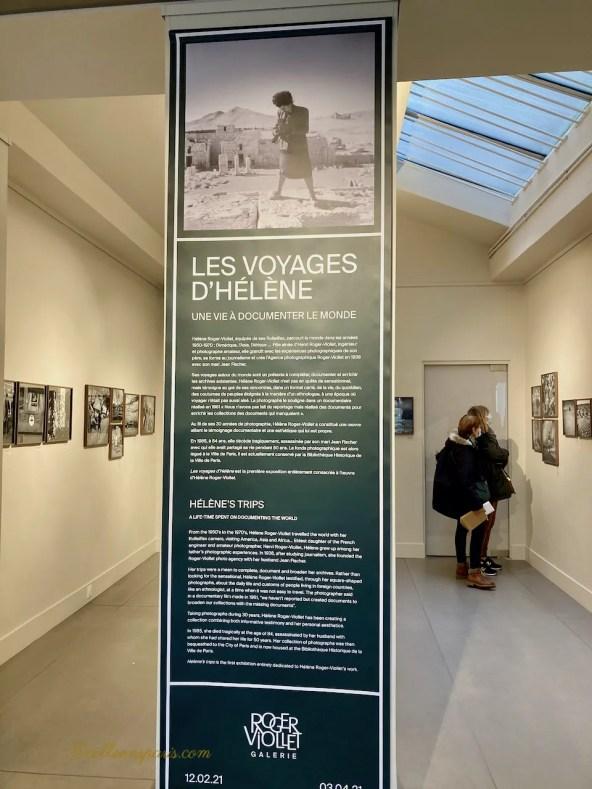 Interior of Roger Viollet Gallery 6 rue de Seine Paris