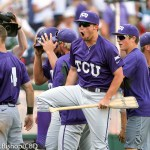 TCU beat Texas Tech 5-3 in the College World Series opener for both teams at TD Ameritrade Park in Omaha, Neb. on June 19, 2016. (Photo by Michelle Bishop)