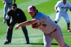 Friday, April 14, 2017; Brookline, MA; College of Charleston pitcher Will Detwiler (36) throws a pitch during the Huskies 6-3 victory over the Cougars in a CAA matchup at Parsons Field.