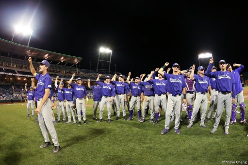 2017 College World Series: TCU defeats Florida 9-2