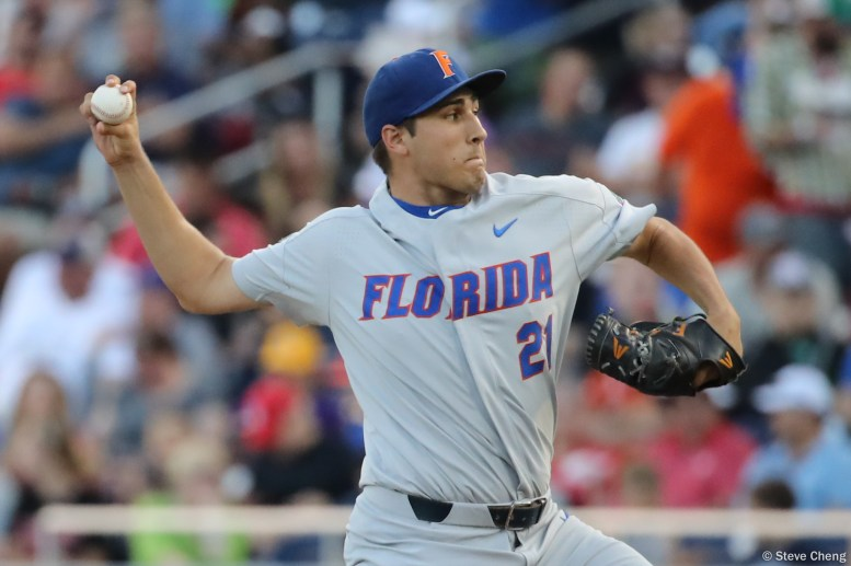 2017 College World Series: Florida defeats TCU 3-0 to advance to the World Series finals. (Photo by Steve Cheng)