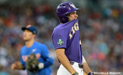 Florida defeated LSU 4-3 at the College World Series on Monday, June 26, 2017. (Photo by Michelle Bishop)