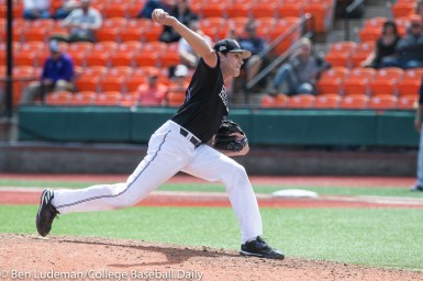 Corvallis, OR - JUNE 4: during a 9-5 Yale Bulldogs victory over the Holy Cross Crusaders in an NCAA Championship Regional Playoff game on June 4, 2017 at Goss Stadium on the campus of Oregon State University in Corvallis, OR (Photo by Ben Ludeman)
