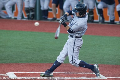 Corvallis, OR - JUNE 4: Harrison White (5) of the Yale Bulldogs during an 8-1 Oregon State Beavers victory over the Yale Bulldogs in an NCAA Championship Regional Playoff game on June 4, 2017 at Goss Stadium on the campus of Oregon State University in Corvallis, OR (Photo by Ben Ludeman)