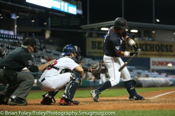 7/12/17, Dunkin Donuts Park Hartford, CT: Japan Collegiate All-Star Team Masaki Iwami (31) swings for a pitch during the USA Collegiate Team's 2-1 victory over the Japan Collegiate All-Star's at Dunkin Donuts Park in Hartford, Connecticut.