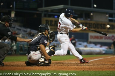 7/12/17, Dunkin Donuts Park Hartford, CT: USA Collegiate National Team infielder Cadyn Grenier (3) of Oregon State swings for a pitch during the USA Collegiate Team's 2-1 victory over the Japan Collegiate All-Star's at Dunkin Donuts Park in Hartford, Connecticut.