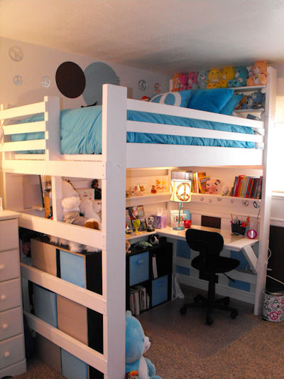 Loft Bed Bunk Beds For Kids Youth Teen College Adults