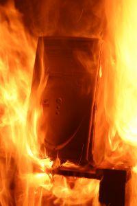 burning computer