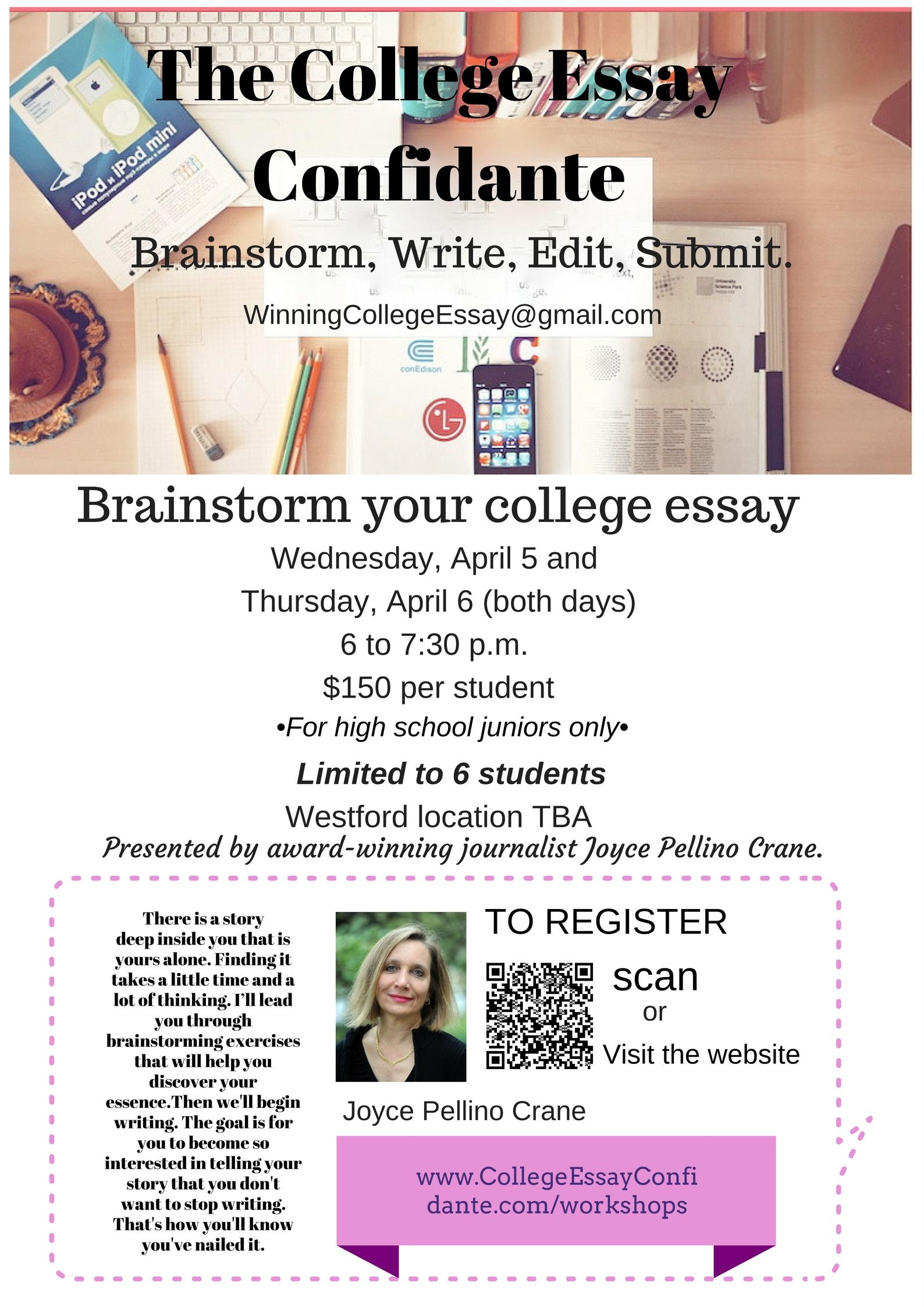 Brainstorming College Essay Ideas